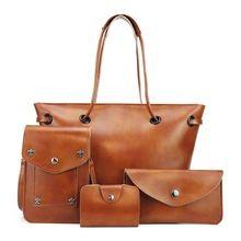 ženy umělá kůže set kabelky taška přes rameno ženy top-rukojeť Crossbody tašky nastavit žena totes nový designer vysoké kvality (Čína (pevninská část))