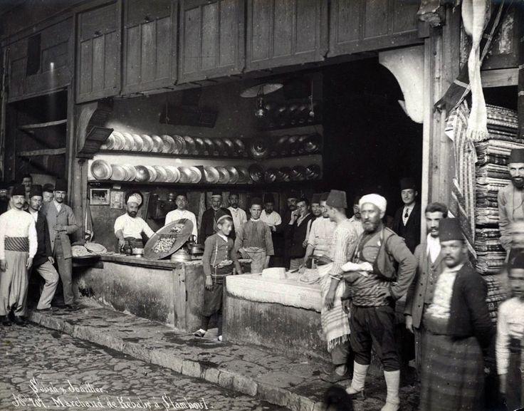 1884 yılında İstanbul-da bir kebapçı.