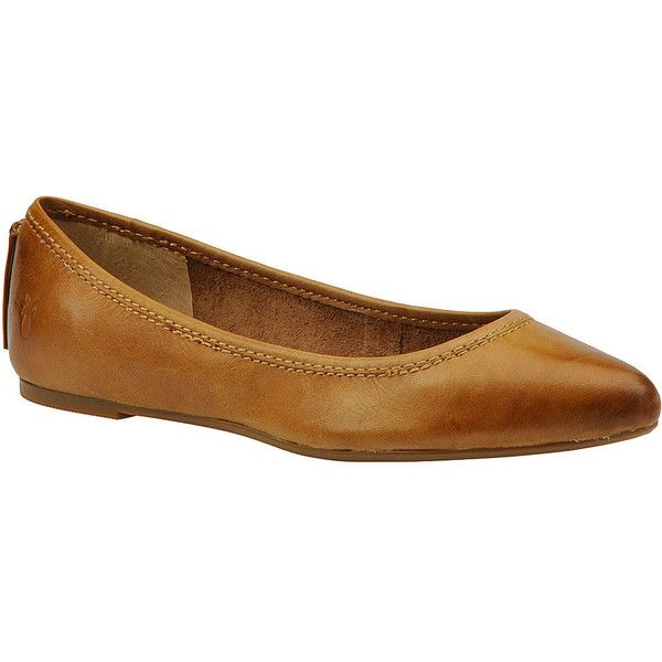 Frye Regina Ballet (205 CAD) ❤ liked on Polyvore featuring shoes, flats, camel, frye shoes, ballet shoes, camel flats, camel shoes and ballerina flats