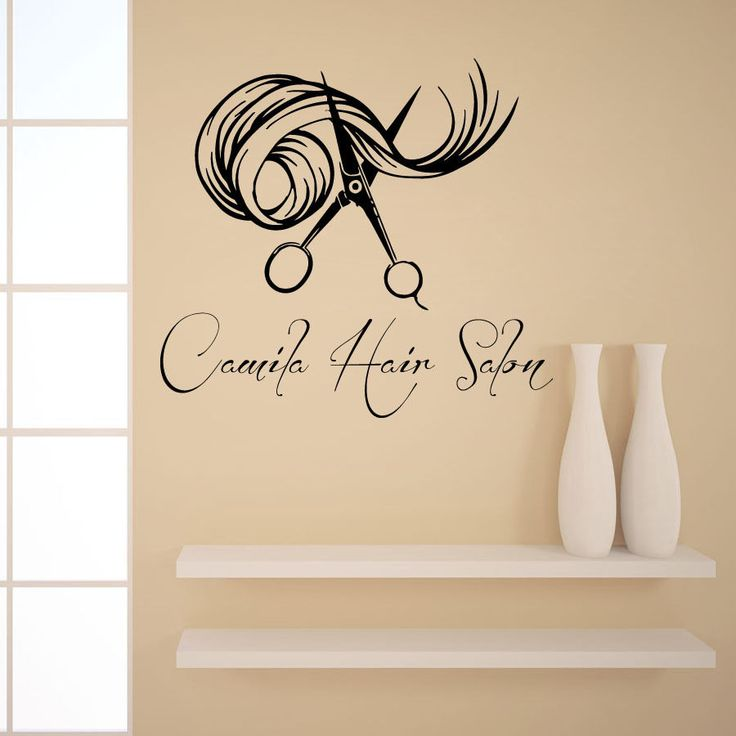 wall decals custom logo hair beauty salon vinyl sticker girl name decor kg898 beauty salon. Black Bedroom Furniture Sets. Home Design Ideas