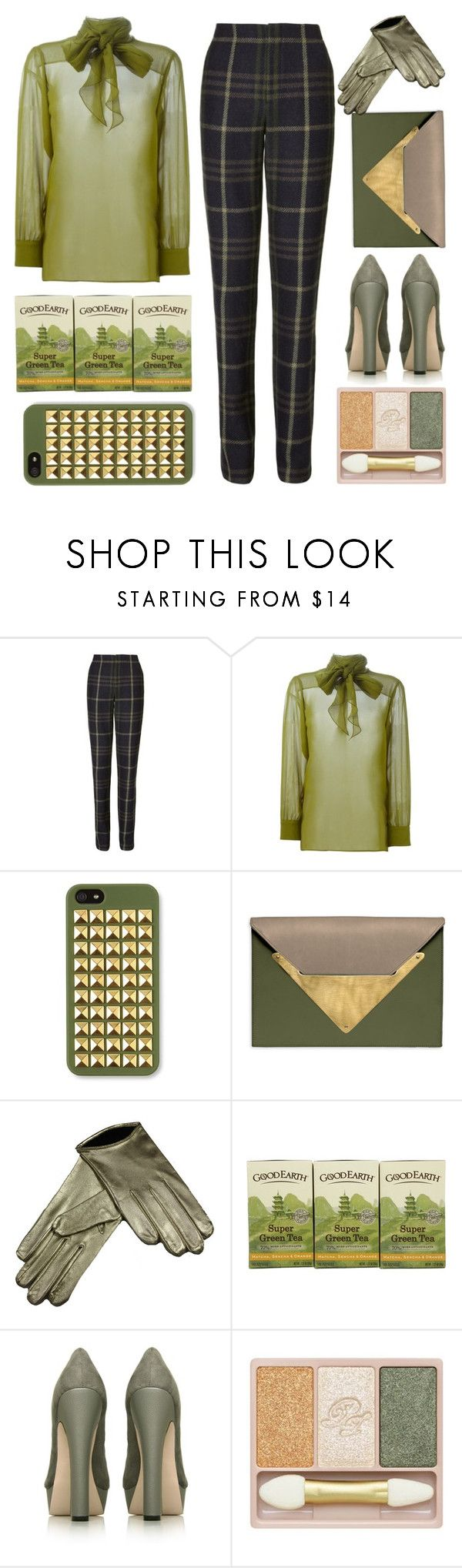 """""""Green"""" by emcf3548 ❤ liked on Polyvore featuring Thakoon Addition, Gucci, Dareen Hakim, Miss KG and Paul & Joe"""