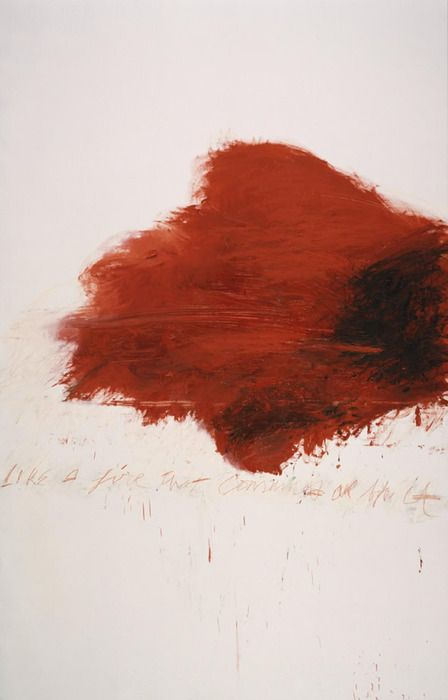 """In his despair he drew the colors from his own heart."" - Cy Twombly, April 25, 1928 – July 5, 2011"