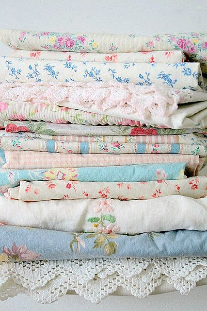 floral vintage fabrics and linens