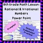This short (13-slide) .pptx is perfect for introducing (or reviewing) the differences between rational and irrational numbers.    This is a CCSS-al...
