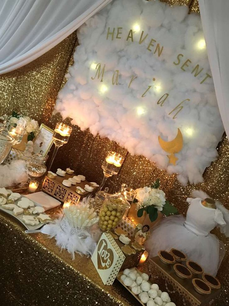 Heaven Sent Baby Shower Party Ideas Photo 23 Of 43 In