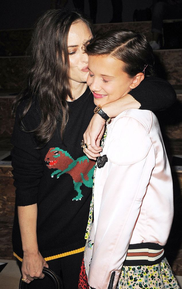 Winona Ryder (Joyce Byers) and Millie Bobby Brown (Eleven) from Stranger Things