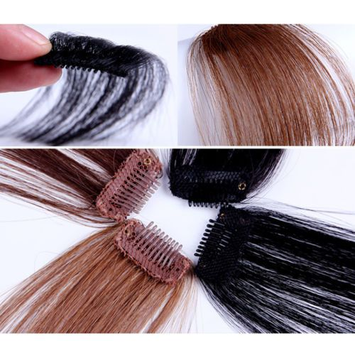 1,90$ Lady-Party-Natural-Clip-on-Bang-Front-Fringe-Only-Hair-Extension-Wigs-Piece-New