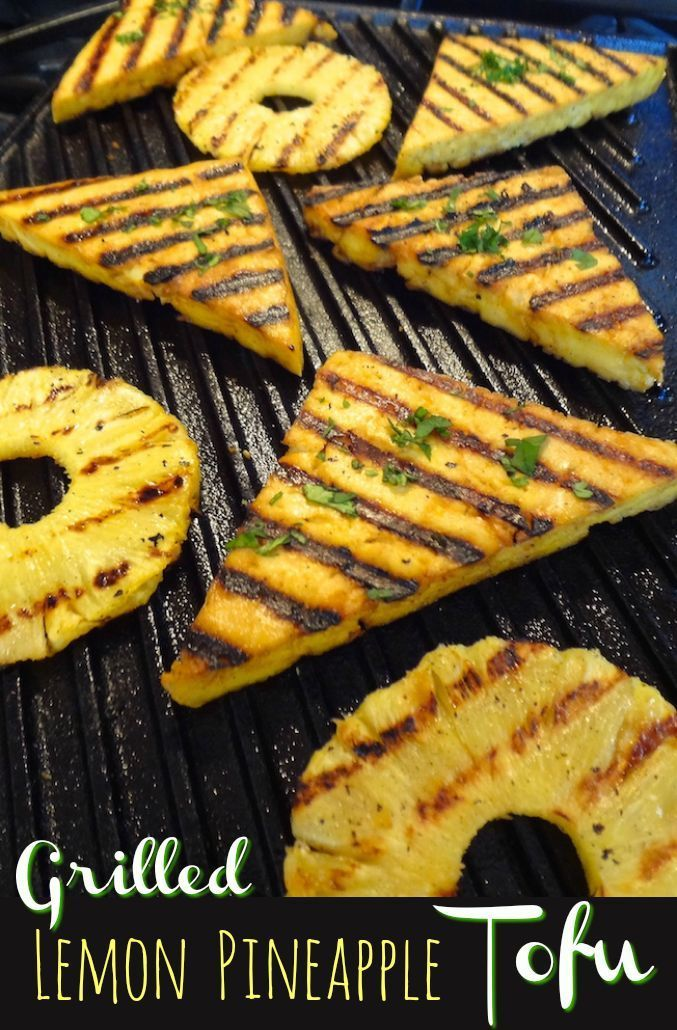 The sweet and sour grilled lemon pineapple tofu is perfect for summer dinners an…