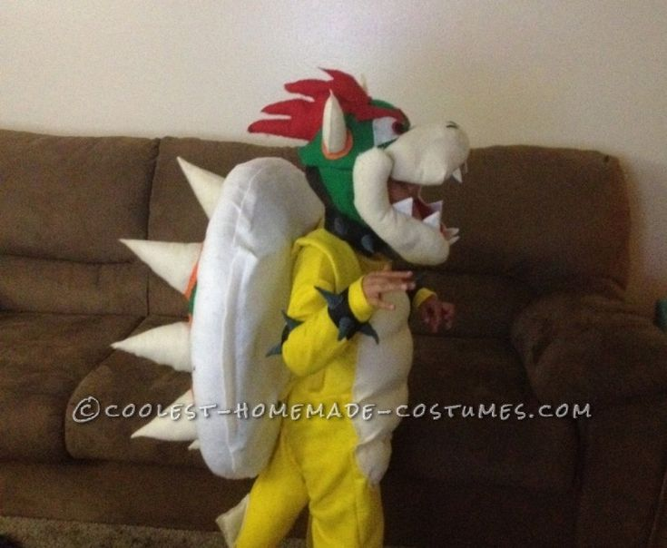 Cool DIY Bowser (King Koopa) Halloween Costume for a Boy ... This website is the Pinterest of costumes