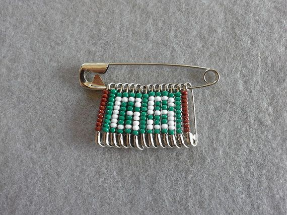 Clearance girl scout beaded safety pin 2 pack girl for Safety pins for crafts