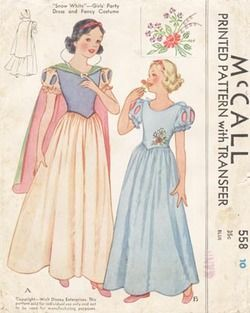 1938 McCalls Snow White Pattern  #snow white