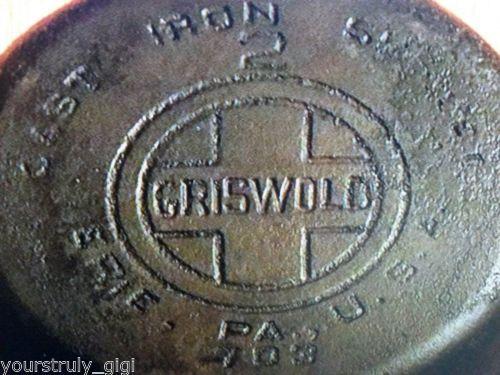 VTG-Griswold-Cast-Iron-2-703-Skillet-Pan-Vintage-Seasoned-Sits-Flat-Nice