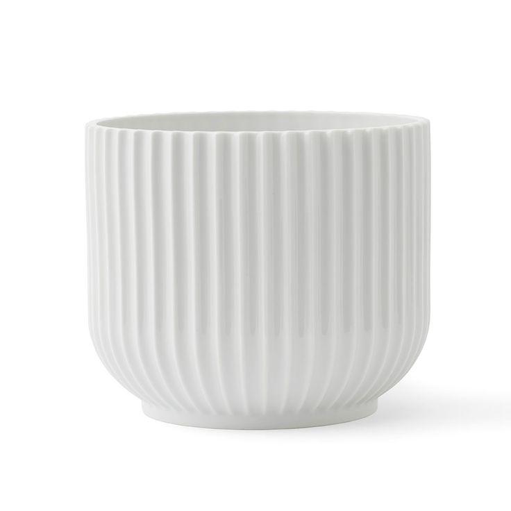Lyngby+Blomsterpotte+Medium,+Hvit,+Lyngby+Porcelæn
