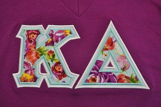 Sorority Greek Letters - Alice Floral Top Fabric