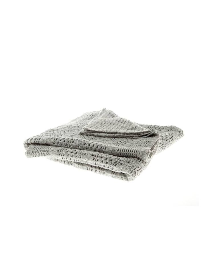 Linen House Inglewood Throw in Sage, available from Forty Winks.