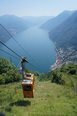 Argeno CABLE CAR TO PIGRA ON LAKE COMO