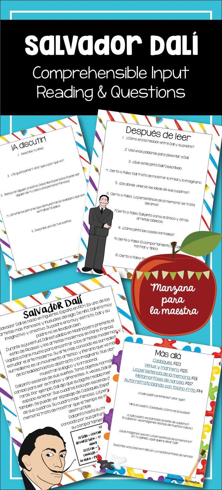 Salvador Dali Comprehensible Input Reading Comprehension ...