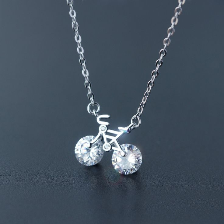 925 Sterling Silver Bicycle Necklace Pendant //Price: $17.99 & FREE Shipping //     #fashjewels