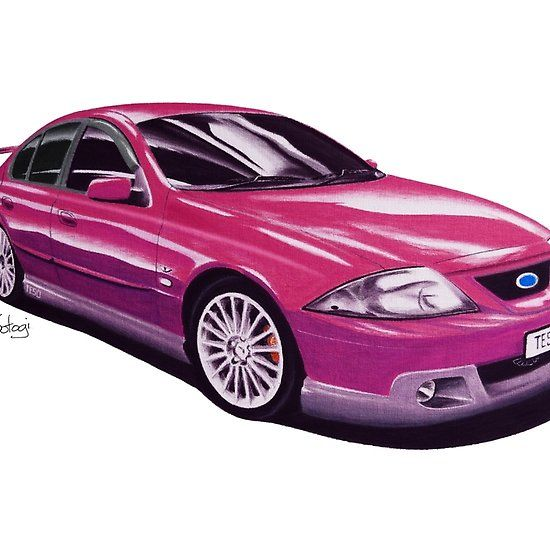Ford FTE TE50 T3 Sparkling Burgundy #ford #falcon #pencil #pencilsketch #artwork #drawing  #carart #cardrawings #automotiveart #australiancar