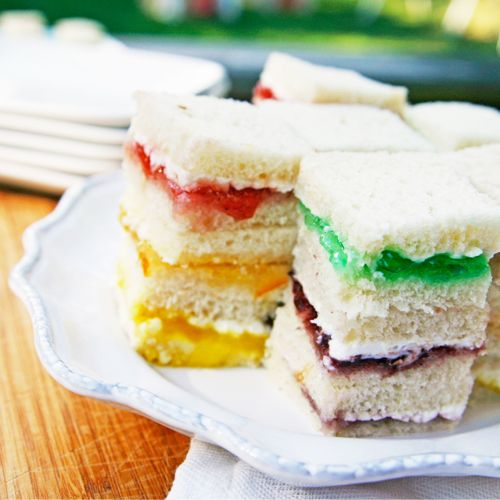 Cream Chees Sandwiches, Sandwiches Bites, Rainbows Cream Cheese ...