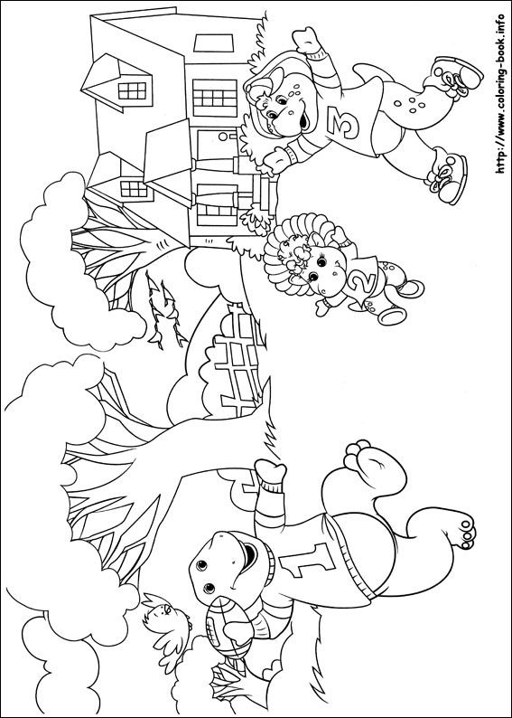 christmas barney coloring pages - photo#27