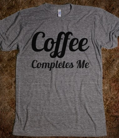 Coffee Completes Me (Lobster) This site has the cutest tops with the best sayings!