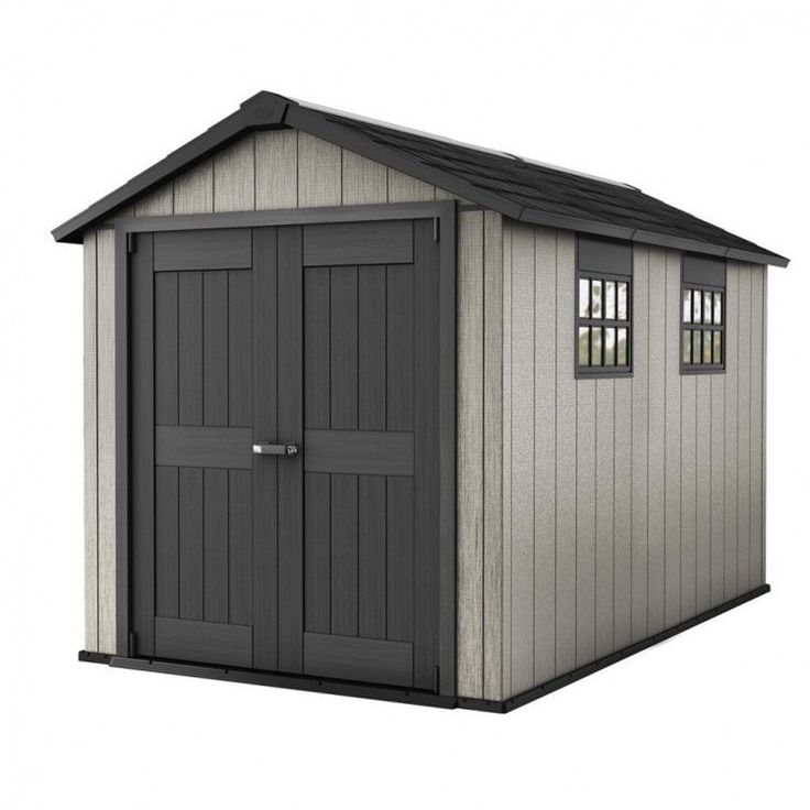 Garden House Shed Storage Outdoors Patio Weather Resistant Modern Brown Home #GardenHouseShed