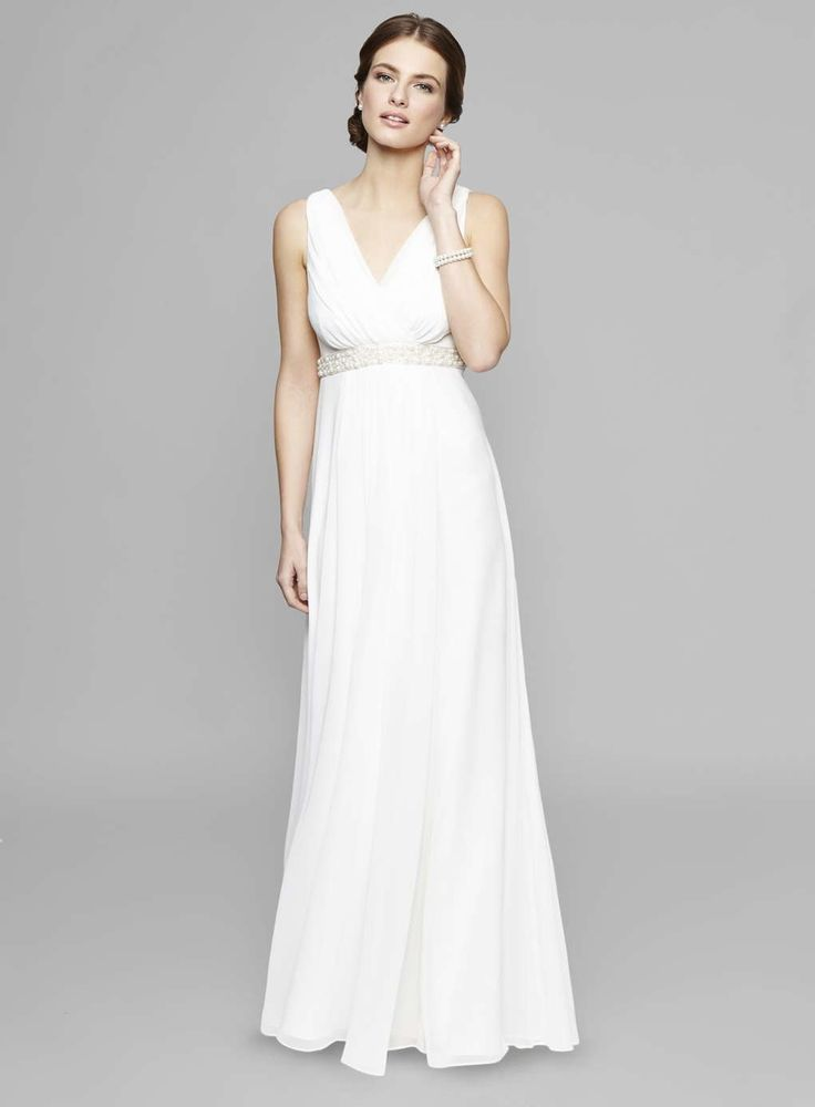 Pure and simple and elegant and lovely and beautiful and amazing and (shut up) ... gorge Grecian Goddess bridal gown here, straight off the high street too, no breaking no banks with this little beauty