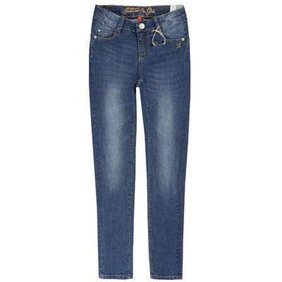 Deze zeer comfortabele blauwe jeansjegging met hoge pasvorm bestel je online bij de specialist in mode voor stevige meisjes.