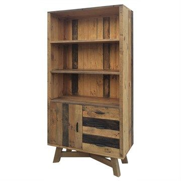 Wheaton Solid Recycled Pine Timber Display Unit