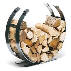 I like this shape, but with a less industrial finish.  Contemporary Log Basket Log Holder Fire Side Accessory Wood Store Log Rack