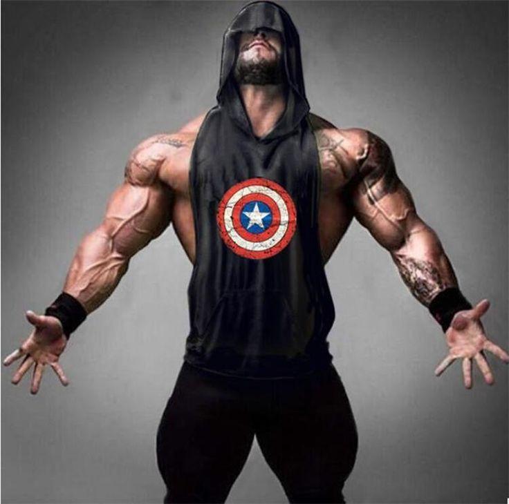 Men's Captain America Tank Top hoodies - Get Some Athletic Wear