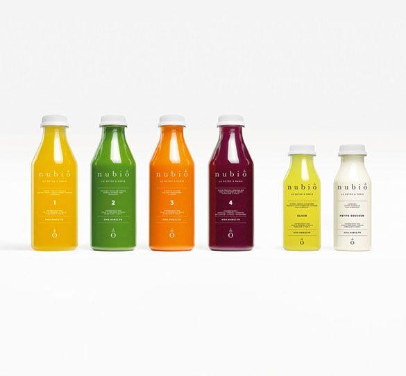 La cure Detox Nouveau Départ de Nubio est composée 6 jus frais différents, à boire chaque jour, tout au long de la journée et en substitution des repas.