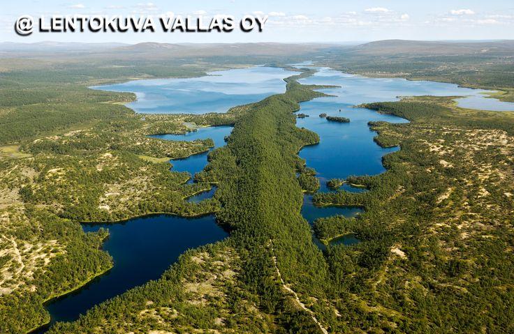 Utsjoki, Luomusjärven harju Ilmakuva: Lentokuva Vallas Oy