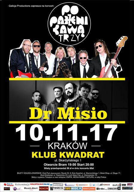 Heavy Metal Music & More  : Poparzeni Kawą Trzy i Dr Misio w Krakowie