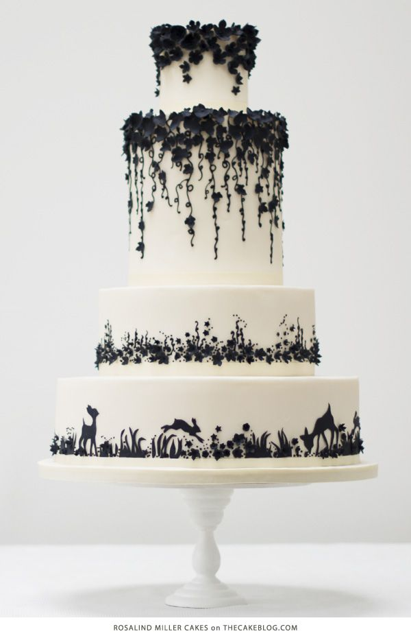 10 Beautiful Black Cakes | including Rosalind Miller Cakes | on TheCakeBlog.com