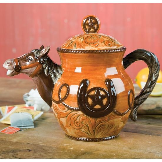 Horse teapot...wish I could find one for my friend Barby!!!