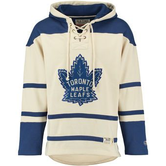 Old Time Hockey Toronto Maple Leafs Natural Lacer Heavyweight Pullover Hoodie