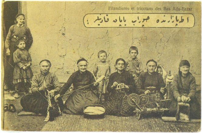 Adabazar, çorap ören Ermeni kadınlar- 1914