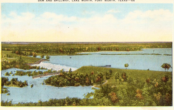Dam and Spillway,Lake Worth - Fort Worth,Texas
