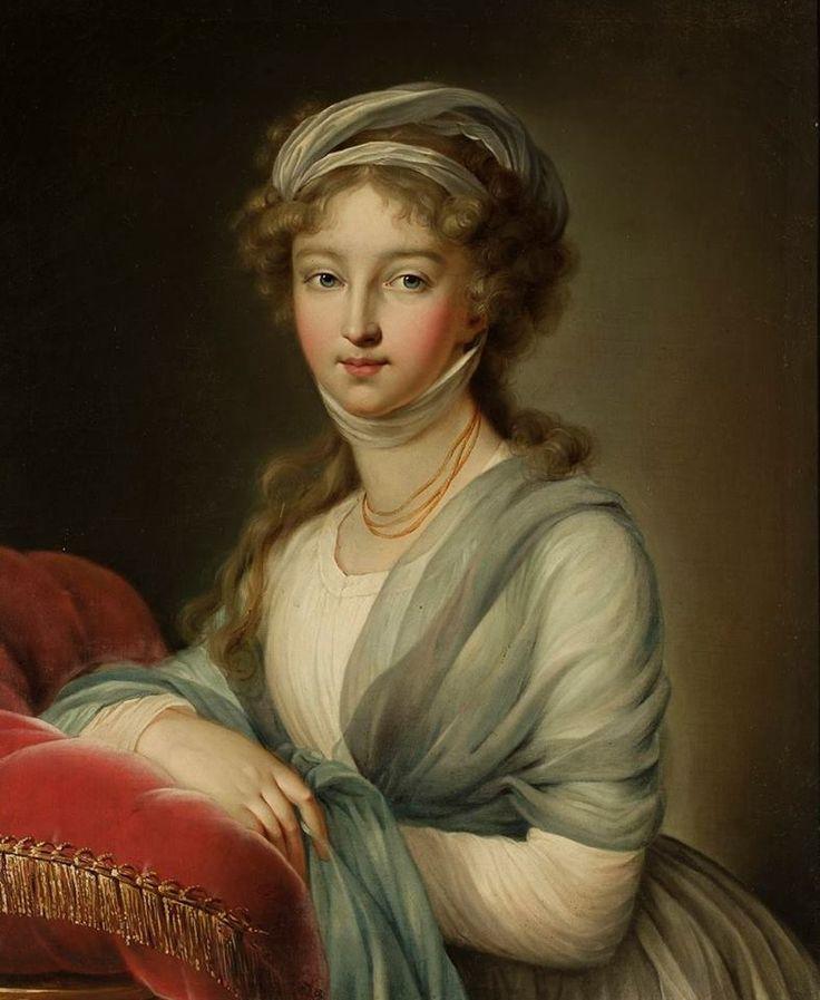 Elisabeth Vigée-Lebrun (1755-1842), Portret Elżbiety Aleksiejewnej (1779-1826), żony cara Aleksandra I. Portret kobiety, po 1795, olej, płótno
