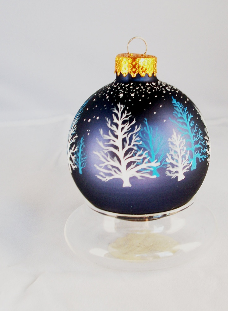 272 best handpainted glass christmas ornaments images on for Ornament ideas