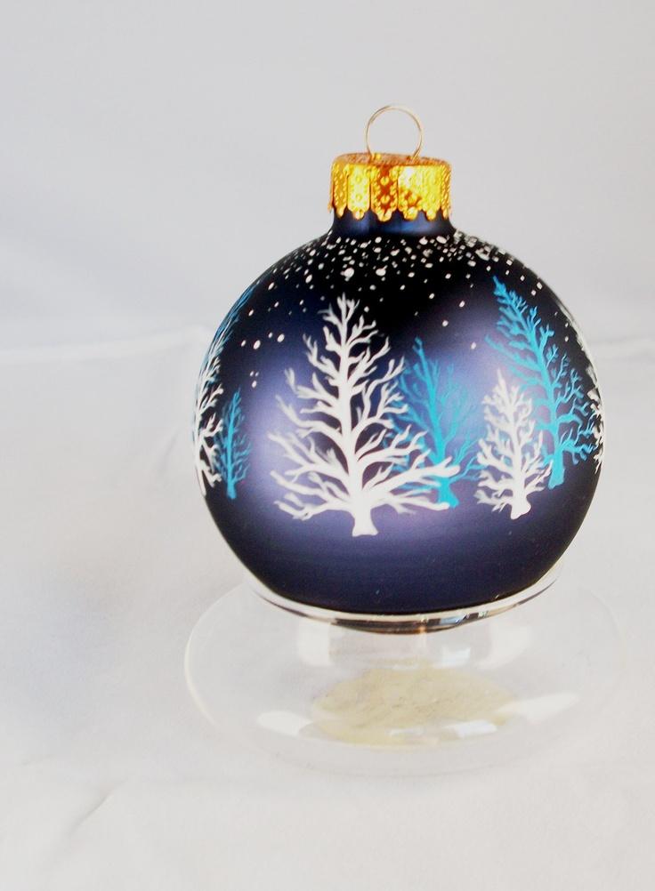 Ornament - Hand Painted, Christmas, Winter Stillness