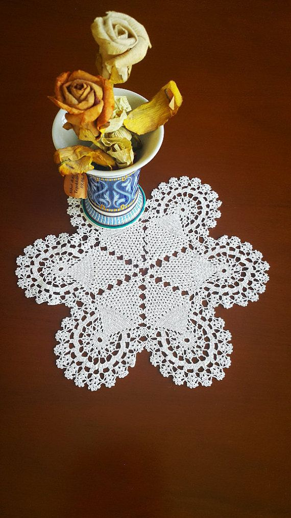 Check out this item in my Etsy shop https://www.etsy.com/listing/463095219/hand-crochet-white-doily-home-decor