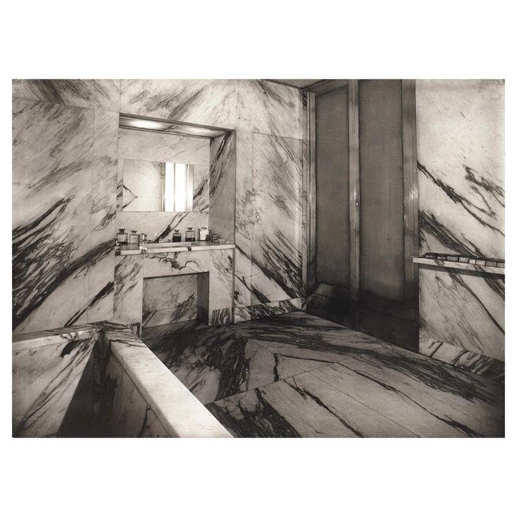 Art Deco Paris Apartment: Marble Bathroom In Jean Michel Frank's Paris Apartment