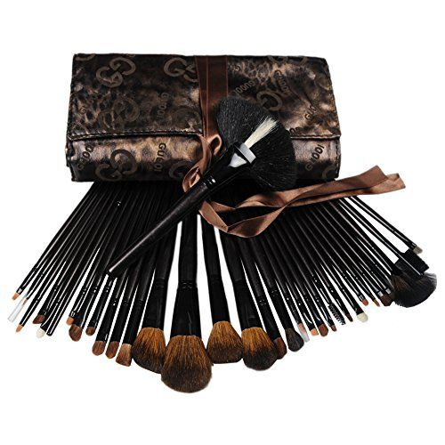 Fashion Zone 34 Fashion Makeup Eyeshadow Cosmetic Brush Set With Bag ** Check this awesome product by going to the link at the image.