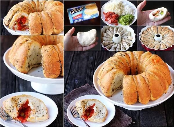 Delicious DIY Recipe - Pizza Monkey Bread - Find Fun Art Projects to Do at Home and Arts and Crafts Ideas