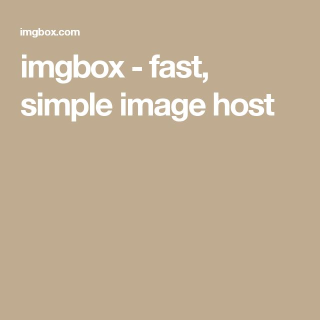 imgbox - fast, simple image host