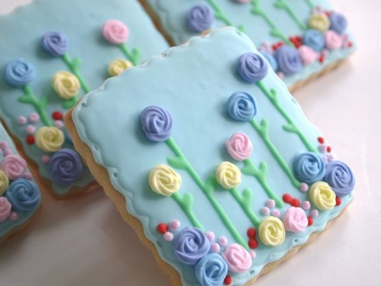Make Me Cake Me - Spring flowers sugar cookies