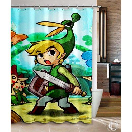 Sell Legend of Zelda Triforce Games Shower Curtain